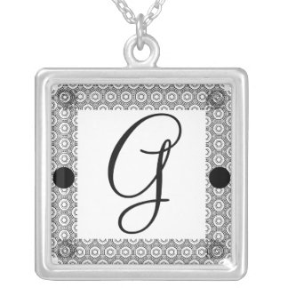 Monogram G Silver Plated Necklace