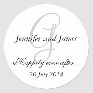 Monogram G Stickers for Wedding Favours