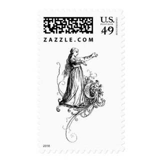 Monogram G with Lass Postage Stamps