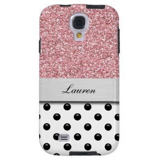 Monogram Galaxy S4 Glitter Case