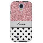 Monogram Galaxy S4 Glitter Case Galaxy S4 Case