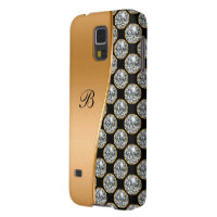 Monogram Galaxy S5 Bling Case Galaxy S5 Cover