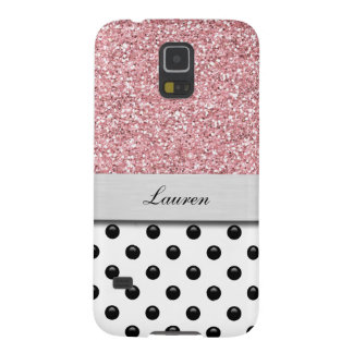 Monogram Galaxy S5 Glitter Case