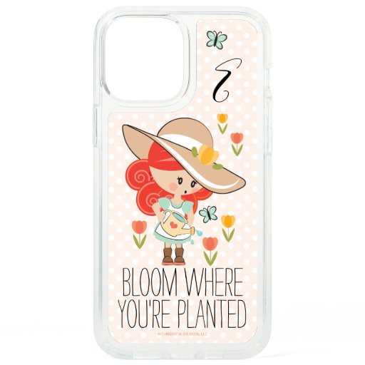 Monogram Garden Girl Redhead Speck iPhone 12 Pro Max Case