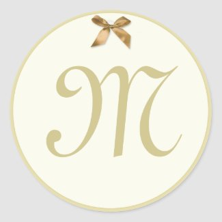 Monogram Gift Tag style Stickers sticker
