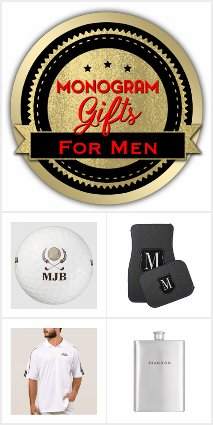 Monogram Gifts for Men