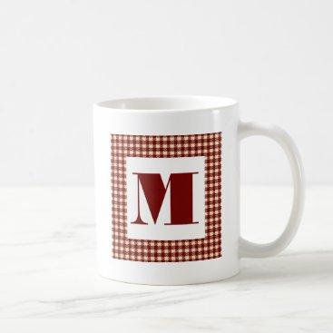 monogram_bouquet Monogram Gingham Coffee Mug