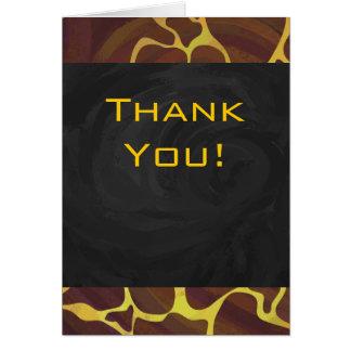 Monogram Giraffe Brown, Yellow Print Greeting Card