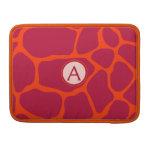 Monogram Giraffe Skin Hot Pink Print Sleeves For MacBooks