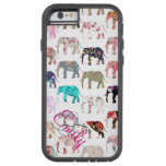 Monogram Girly Retro Floral Elephants Pattern Tough Xtreme iPhone 6 Case
