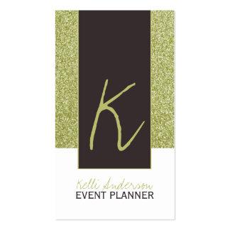 Monogram Glitter Business Card Template