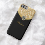 Monogram Glitter Style Barely There iPhone 6 Case