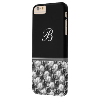 Monogram Glitter Style Barely There iPhone 6 Plus Case