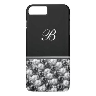 Monogram Glitter Style iPhone 7 Plus Case