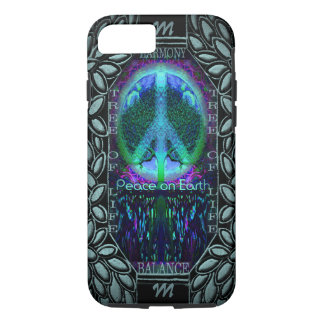Monogram Glowing Peace Symbol iPhone 8/7 Case