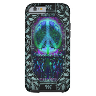 Monogram Glowing Peace Symbol Tough iPhone 6 Case