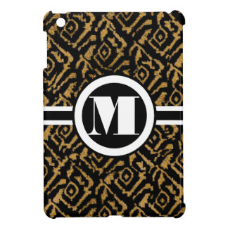 Monogram Gold Damask iPad Mini Case