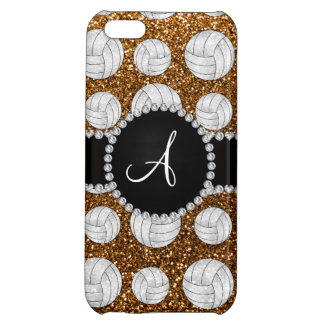 Monogram gold glitter volleyballs case for iPhone 5C