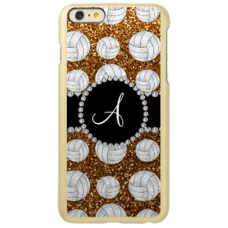Monogram gold glitter volleyballs incipio feather shine iPhone 6 plus case