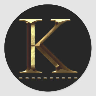 Monogram gold letter K Your Sticker