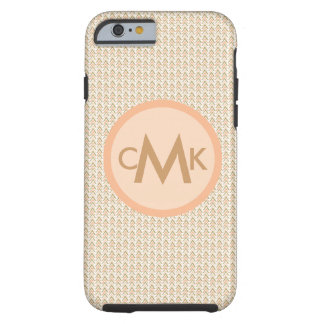 Monogram Gold Peach Chevron Arrow Phone Case