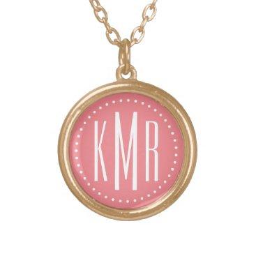 monogram_bouquet Monogram Gold Plated Necklace