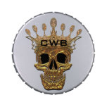 Monogram Gold Skull Jelly Belly Candy Tins