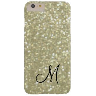 Monogram Gold Sparkle iPhone 6 Plus Case
