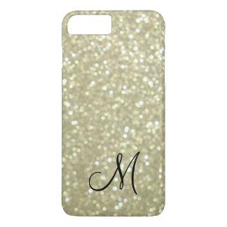 Monogram Gold Sparkle iPhone 7 Plus Case
