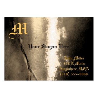 Monogram Gold Vintage Metal Business Card