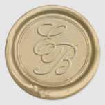 "Monogram Gold Wax Envelope Seal Wedding<br><div class=""desc"">Monogram Gold Wax Seal Wedding Stickers.</div>"