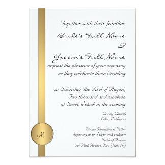 MONOGRAM GOLD WEDDING INVITATION TEMPLATE