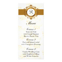 monogram gold wedding menu