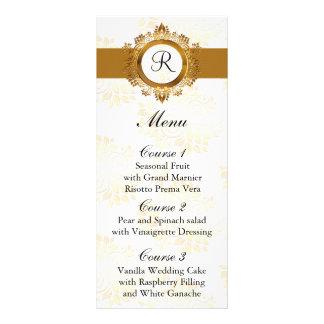 monogram gold wedding menu