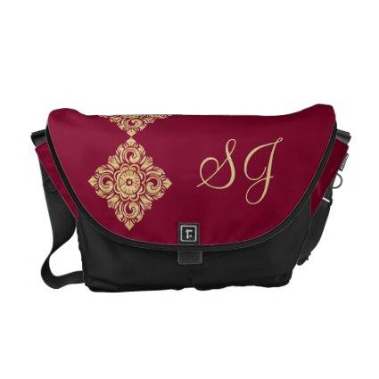 Monogram Golden Diamond Damask Messenger Bag