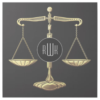 Monogram | Golden Scales of Justice Gallery Wrap