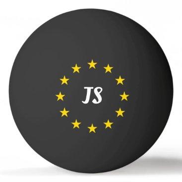 Monogram Golden Stars Ping Pong Ball