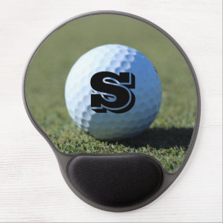 Monogram Golf Ball on Green close-up photo Gel Mouse Pad