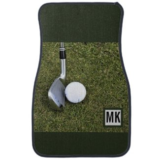 Monogram Golf Putting Green Set of 2 Custom Car Floor Mat