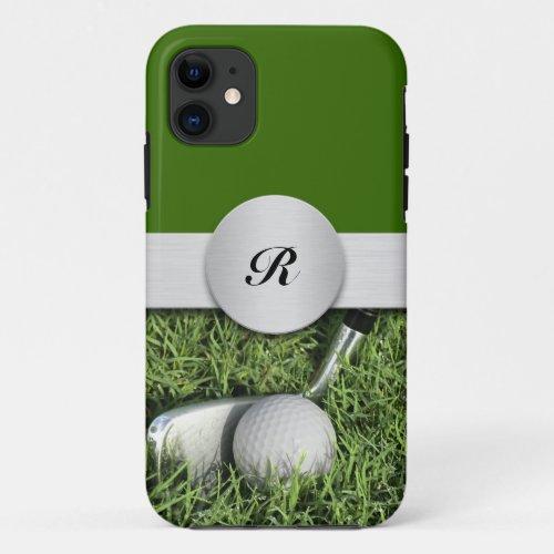Monogram Golf Theme Phone Case