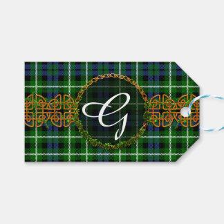 Monogram Graham Tartan Gift Tags