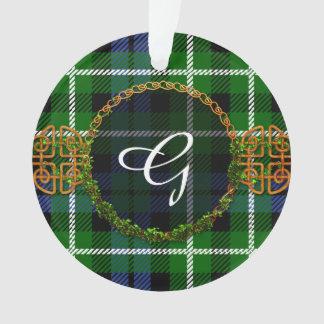 Monogram Graham Tartan Ornament