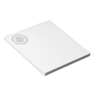 Monogram Gray and Pink Modern Medallion Pattern Notepad