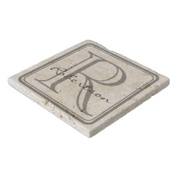 Monogram Gray Square Trivet