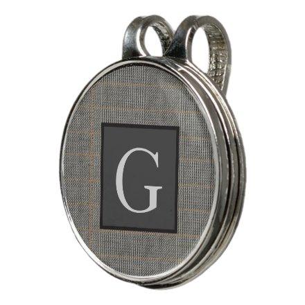 Monogram Gray Tweed Groomsman Bestman Wedding Gift Golf Hat Clip