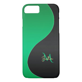 Monogram Green and Black iPhone 7 Case