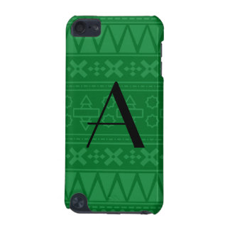 Monogram green aztec pattern iPod touch (5th generation) covers