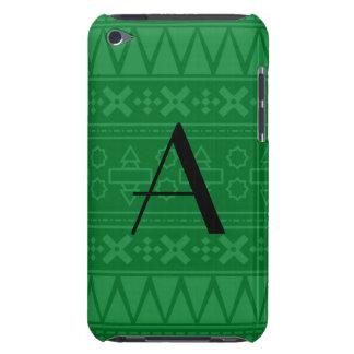 Monogram green aztec pattern iPod Case-Mate cases