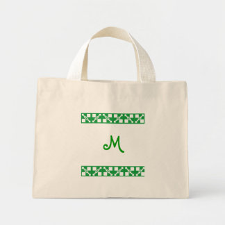 Monogram green baby - child tiny bag