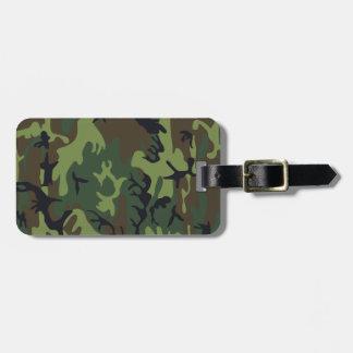 Monogram Green Brown Black Camo Camouflage Bag Tag